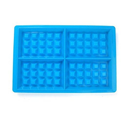 zantec Silikon Form Biscuit Form Antihaft-Kuchen Schokolade Rundkuchen Tools 4Cavity blau