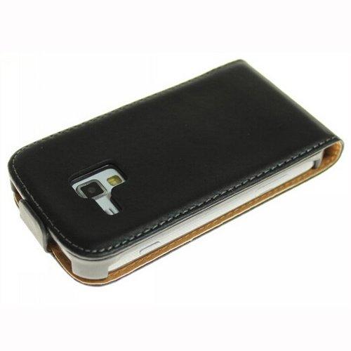 Semoss 1 x Cuir Style Étui Coque Housse pour Samsung Galaxy Trend GT-S7560 / Galaxy S Duos S7562 (Noir)