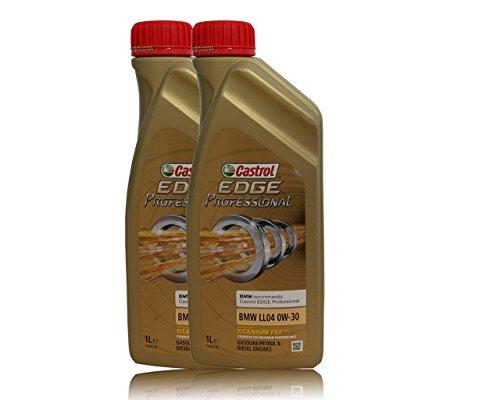 Castrol EDGE Professional Longlife 04 0W30 - Olio per Auto, Lubrificante a Lunga Durata Titanium 0W-30 2 Lit