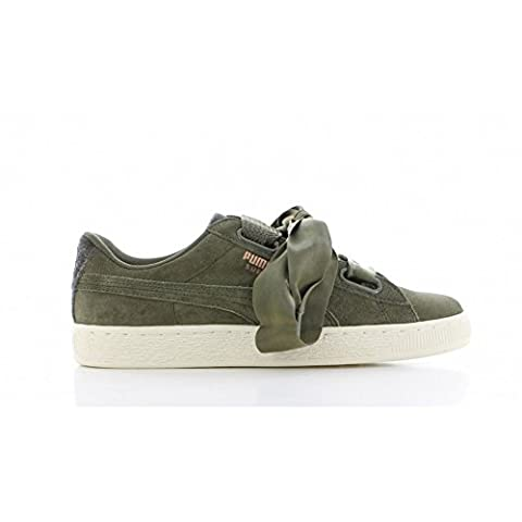Chaussures Puma – Suede Heart Vr Wn's vert/or/blanc taille: 36