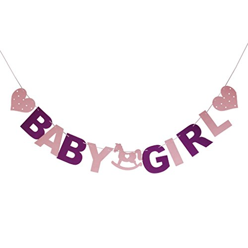 Sein Mädchen Bunting Girlande Banner Baby Shower Party Dekoration