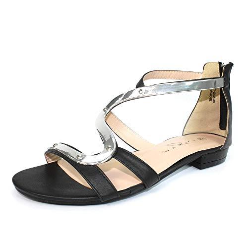 lunar andie gladiator sandal in beige, black, navy, pink, silver, black and white
