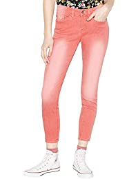 de2d7298a Red Herring Womens Coral 'Holly' Skinny Ankle Grazer Jeans 10R