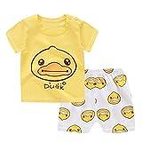 Allence Baby Jungen Set Sommer, 2 Stücke Junge Mädchen Bekleidungsset Kleidung Cartoon Kleine gelbe Ente Print T-Shirt Tops Infant Outfits Kinder Shorts Hosen
