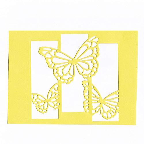 Xmiral Fustelle per Scrapbooking per Carta Cutting Dies Metallo Fustella Stencil #19031901A, Accessori per Big Shot e Altre Macchina(H)