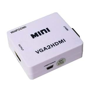 Mini convertisseur vga hdmi upscaler 1080p boîte de vidéo et audio adaptateur