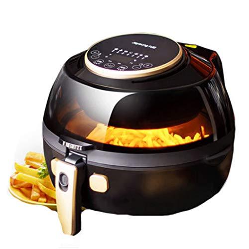 YILIAN kongqizhaguo 5L Luft Fritteuse Perspektive Kochen automatisch mischen Hause Multifunktions-große Kapazität ölfreie fettarme Pommes Frites elektrische Fritteuse schwarz