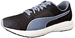 Puma Mens NRGY Black and Folkstone Grey Running Shoes - 11 UK/India (46 EU)