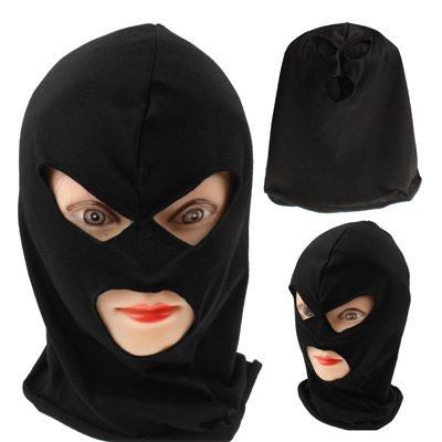 door Maske / Sturmhaube / Bandana / Skimaske in schwarz (Schwarzer Zorro Hut)