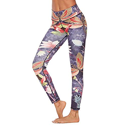 (FANGNVREN Yoga Hose,Sport Yoga Sport Frauen Dragonfly Gedruckt Yoga Hosen Leggings weiblichen Workout Hose Laufen Yoga Ausbildung Slim Hose, Photo Color, XL198)