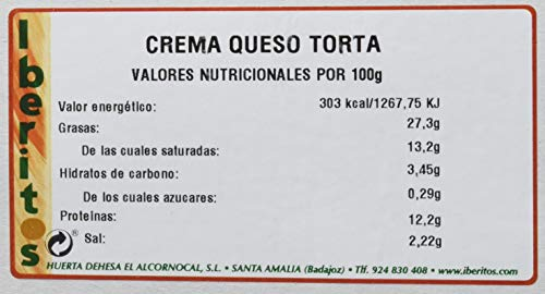 Iberitos Crema de Queso de Torta - Paquete de 18 x 25 gr - Total: 450 gr
