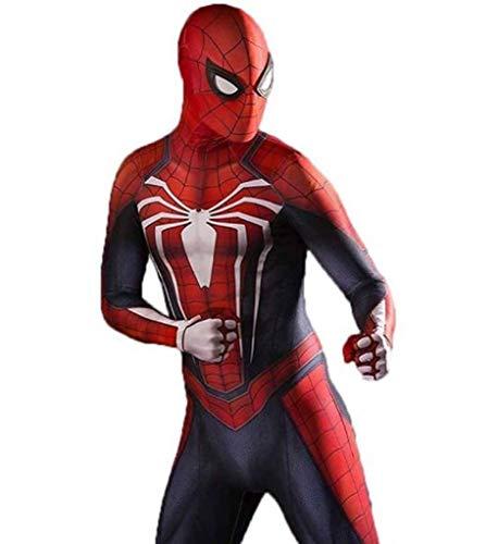 TOYSGAMES Spiderman Cosplay PS4 elastische Strumpfhose Halloween Movie Show Kostüm Requisiten (Farbe : B, größe : L) (Erwachsene Größe Spiderman Kostüme)