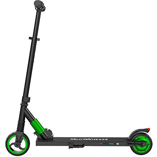 M MEGAWHEELS Scooter electrico, Patinete electrico es Ajustable la Altura para los Adolescentes y los Adultos.(Green)