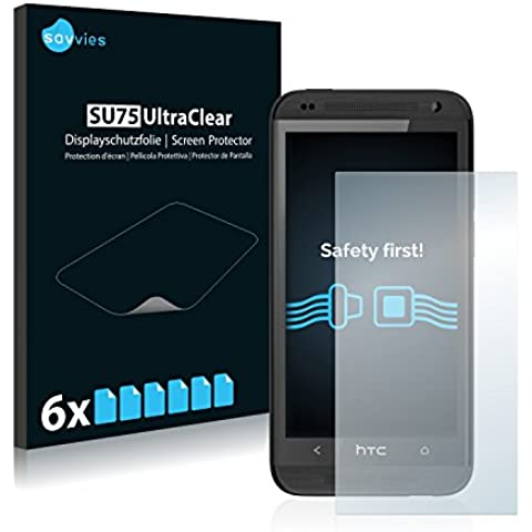 6x Protector Pantalla para HTC Desire 601Protector Transparente