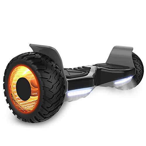 GeekMe Off-Road Elektroroller 8.5 \'\' SUV Hummer Gelände intelligenter Self Balance Scooter Board Hover Fantastische LED-glühende Räder mit Bluetooth-Funktion
