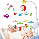 Baby Musical Mobile with Four Little Bee Mobile Support Baby Crib Cot Mobile Arm Music Box with Toys ABS Material Gift for Baby - [Battery not Included]