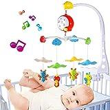 Móvil musical para bebé con cuatro abejitas, soporte móvil para cuna de bebé, caja de música para cuna con juguetes de ABS, regalo para bebé (batería no incluida)