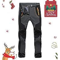 Lachi Pantalon de Randonnée Homme Polaire Softshell Imperméable Coupe-Vent Pluie Neige Ski en Plein Air pour Automne Hiver