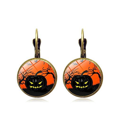 Adisaer Halloween Schmuck Schloss Zeit Edelstein Ohrringe Vintage Bronze Ohrringe Urlaub Ohrringe Herren Damen Schmuck