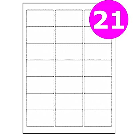 A4 Mailing Address Labels 21 Per Sheet for Laser Printer