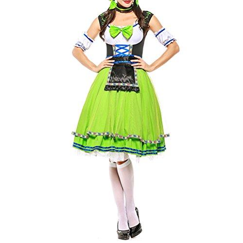 Zhuhaitf Funny Beer Girl Frauen Kostüm Halloween Oktoberfest Bayerischer Karneval Kostüme Party Kleid