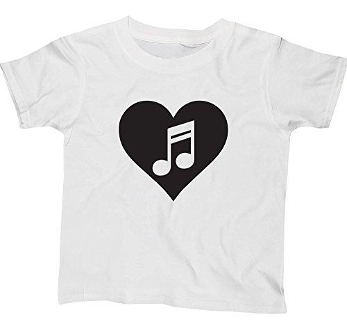 Hippowarehouse Heart Music Kids Children's Short Sleeve t-Shirt
