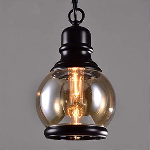 T-Tonranp Luz Colgante de Loft Vintage Estilo Industrial Lámpara de Vidrio de...