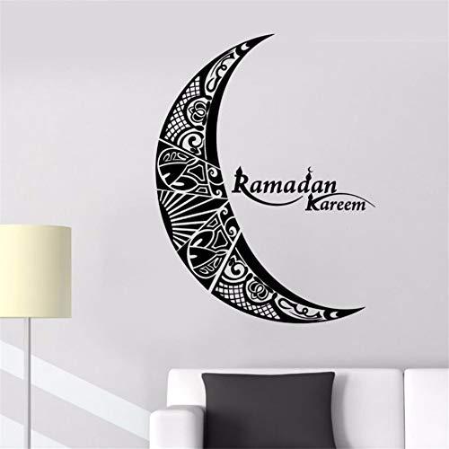 Zyzdsd Wohnkultur Vinyl Ramadan Kareem Wandtattoo Mond Islam Muslim Religion Aufkleber Dekor Kunst Dekoration Zubehör Wandbild 57 * 75 Cm