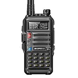 Outdoor High Power Walkie-Talkie, 8W 10Km Long Range Tragbares Radio UV-S9 CB-Funk-Transceiver, Jagd Forest City Taschenlampe Polizei Satelliten-Telefon