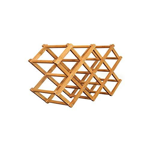 Tyi portabottiglie, telaio pieghevole portabottiglie in puro bambù portabottiglie creativo pieghevole portabottiglie in bambù portabottiglie portabottiglie vino