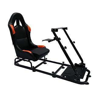 FK-Automotive Game Seat Spielsitz für PC und Spielekonsolen Kunstleder schwarz/orange