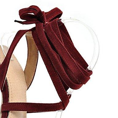 LvYuan Sandali-Formale Casual-Alla schiava Club Shoes-A stiletto-Velluto-Nero Rosso Grigio Red