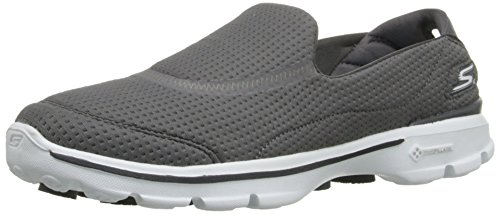Skechers Women's Gowalk 3 Unfold Low-Top Sneakers, Charcoal, 6 UK