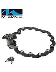 M-Wave Fahrrad Falt-Disc-Schloss F600D Schloss mit Clip-on Halter - 01200159