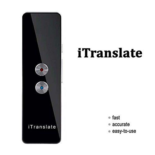 Traductor de idioma inteligente, portátil, de dos vías en tiempo real, multiidioma, para viajes, aprendizaje, negocios, reuniones, compras, etc.