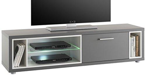 Stella Trading Shades 4 TV Lowboard, Holz, Grau, 140 x 37 x 36 cm