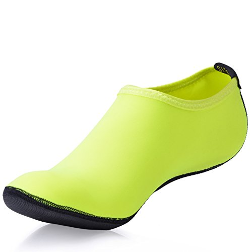 SITAILE Kinder Herren Damen Aquaschuhe Strandschuhe Sommer Schuhe Schwimmschuhe Surfschuhe,Grün,L,EU39-40 (Helle Grün-pumpen)
