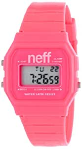 Neff Flava Unisex Digital Watch with LCD Dial Digital Display and Pink Plastic or PU Strap NF0204PNK