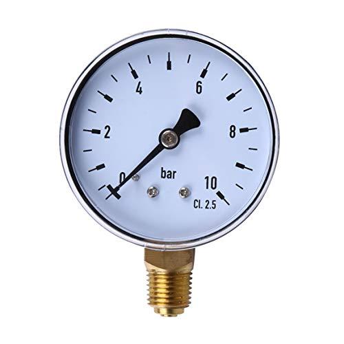 1/4 Zoll NPT Side Mount 10 Bar Metall Wasser Öl Kompressor Manometer Druck Messwerkzeug -