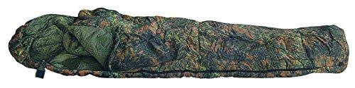 Schlafsack Ultra-Lite Ranger Flecktarn Oliv Woodland Camouflage (Flecktarn) (Lange Mumienschlafsack Lite)