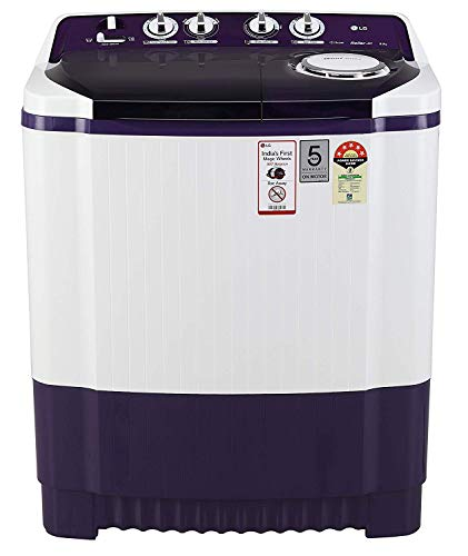 LG 8 Kg 5 Star Semi-Automatic Top Loading Washing Machine (P8035SPMZ, Purple)