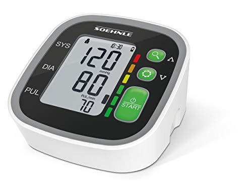 Soehnle Oberarm Blutdruckmessgerät Systo Monitor 300 mit vollautomatischer Messung, Blutdruckmesser mit Bewegungssensor, Blutdruck Messgerät, inkl. Batterien (Oberarm-blutdruck-monitor)