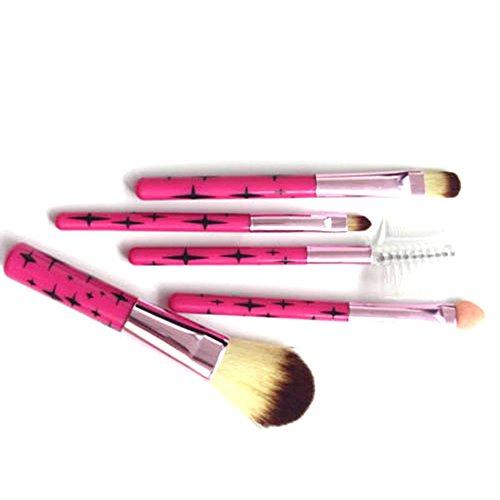 5pcs Professionnels Pinceaux de Maquillage Jeu de Cosmétiques Cils Brosse Face Brosse