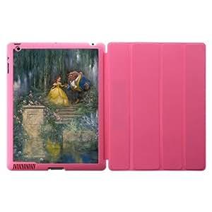 Treasure Design Beauty and the Beast Cartoon Apple iPad 2, iPad 3 (New iPad),IPad 4 Pink Smart Case Covers