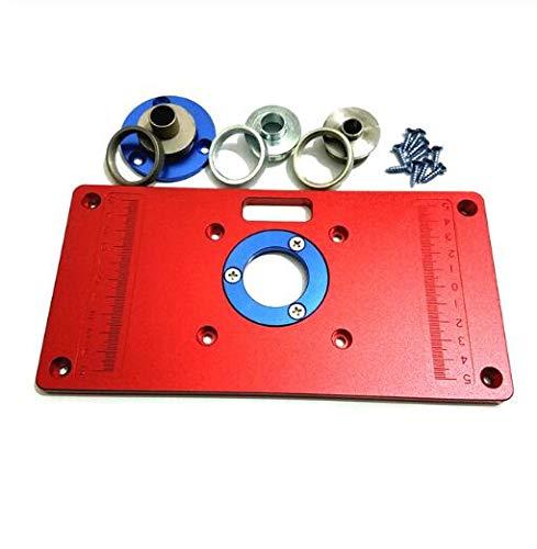 TQ Universal Aluminium Router Tischplatte mit 2 Stücke Einsatz Ring für Holzbearbeitung Bank Werkzeuge Holz Router Tisch,B -