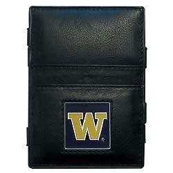 NCAA Washington Huskies Leather Jacob's Ladder Wallet