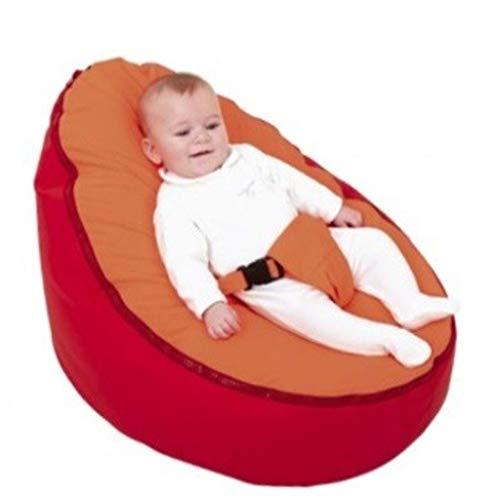 Gmsqj Baby Sitzsack Bett, Sitzsack Sofa Stuhl, Weiche Bequeme Kindersitzliege Mit Sicherheitsgurt, Gefüllte Hochwertige EPS-Partikel, Babys Von 0-12 Monaten,T5