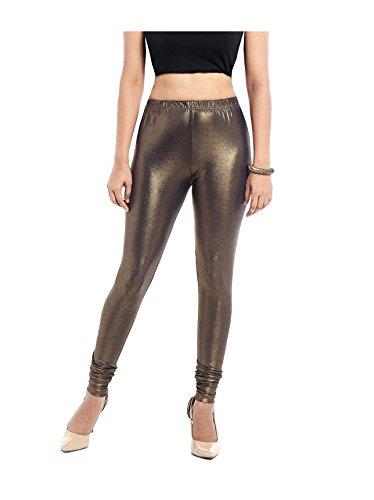 Shimmer golden leggings for women's (L)