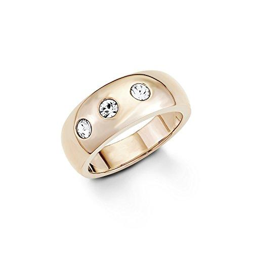 s.Oliver Damen-Ring Swarovski Elements Edelstahl Kristall weiß Gr. 58 (18.5) - 524322
