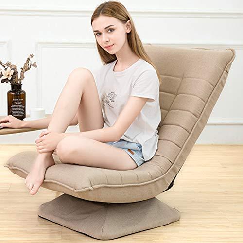 Aluminium Frame Sofa (VIVOCC 360-grad- Schwenkbar Boden Gaming Chair, Metel Frame Gefaltete 5 positionen Verstellbar Boden Sofa Sessel Lounge Atmungsaktive Abnehmbare Waschbar-B 59x85cm(23x33inch))